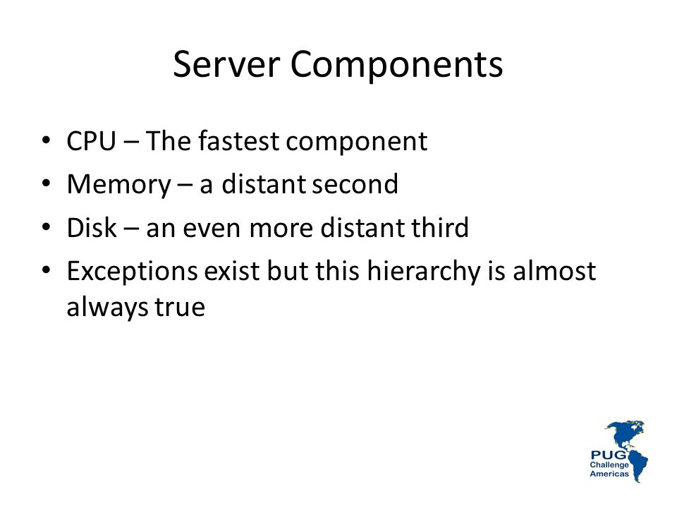 Server Components CPU – The fastest component