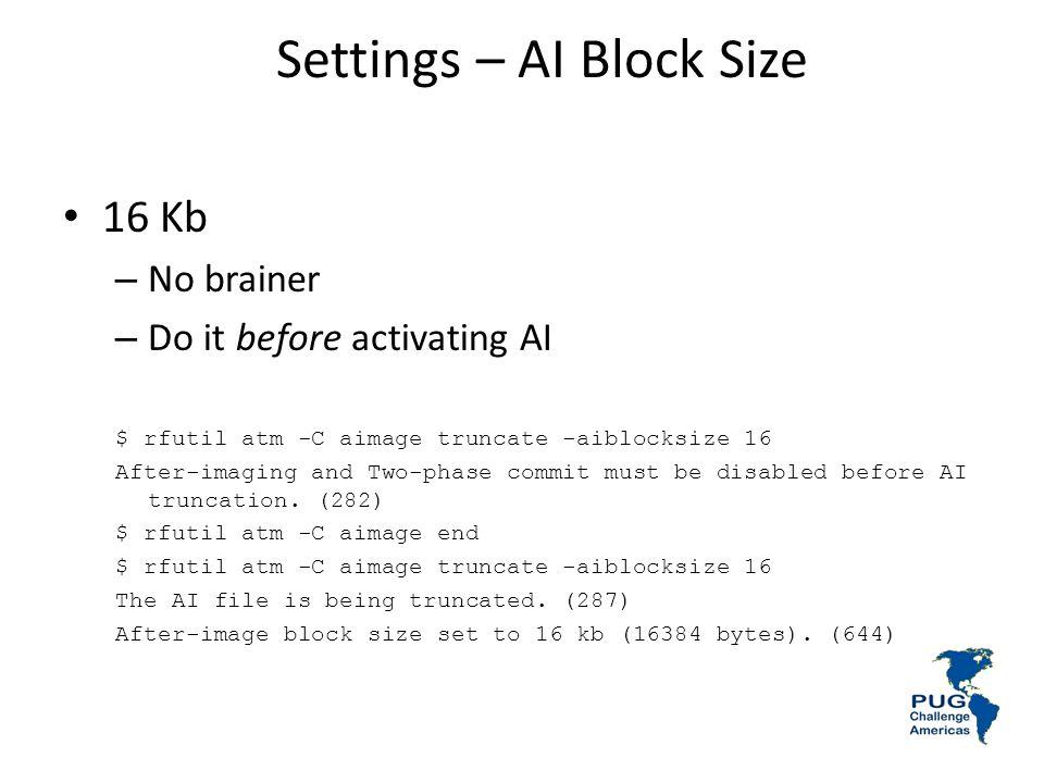 Settings – AI Block Size