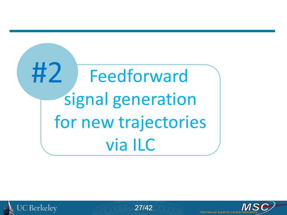 #2 Feedforward signal generation for new trajectories via ILC 27/42