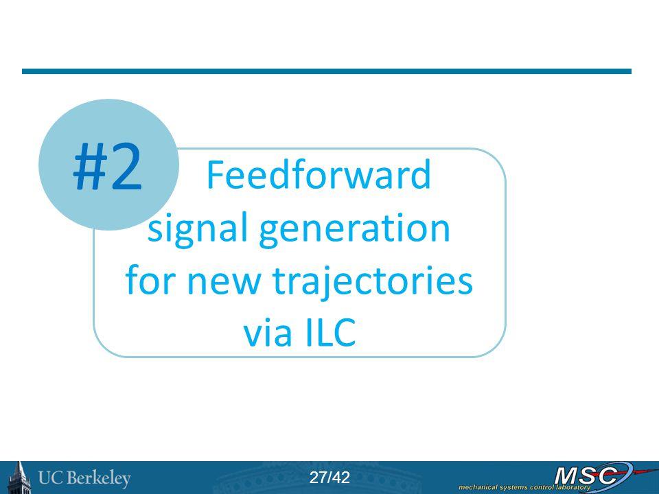 #2 Feedforward signal generation for new trajectories via ILC 27/42
