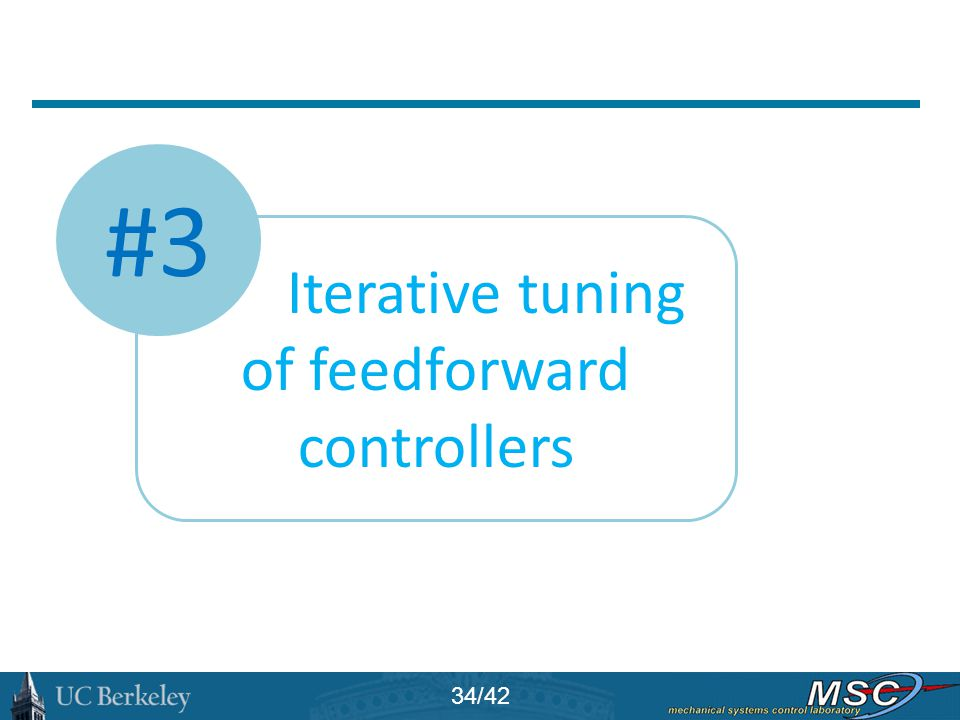 Iterative tuning of feedforward controllers