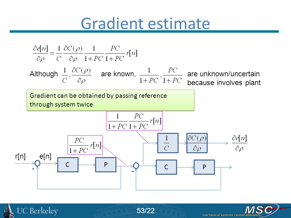 Gradient estimate Although are known,