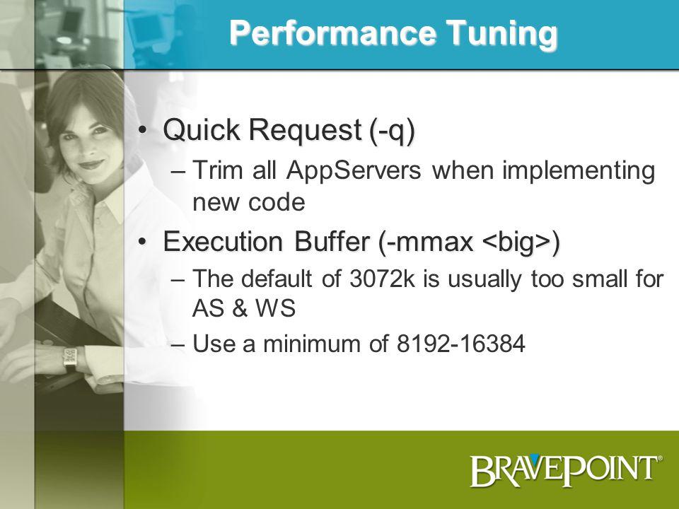 Performance Tuning Quick Request (-q)