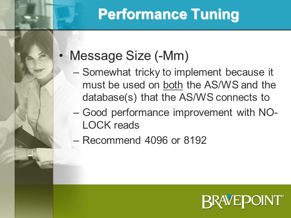 Performance Tuning Message Size (-Mm)