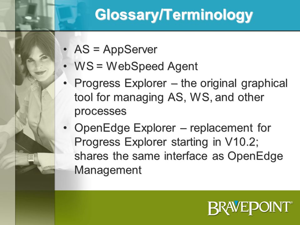 Glossary/Terminology
