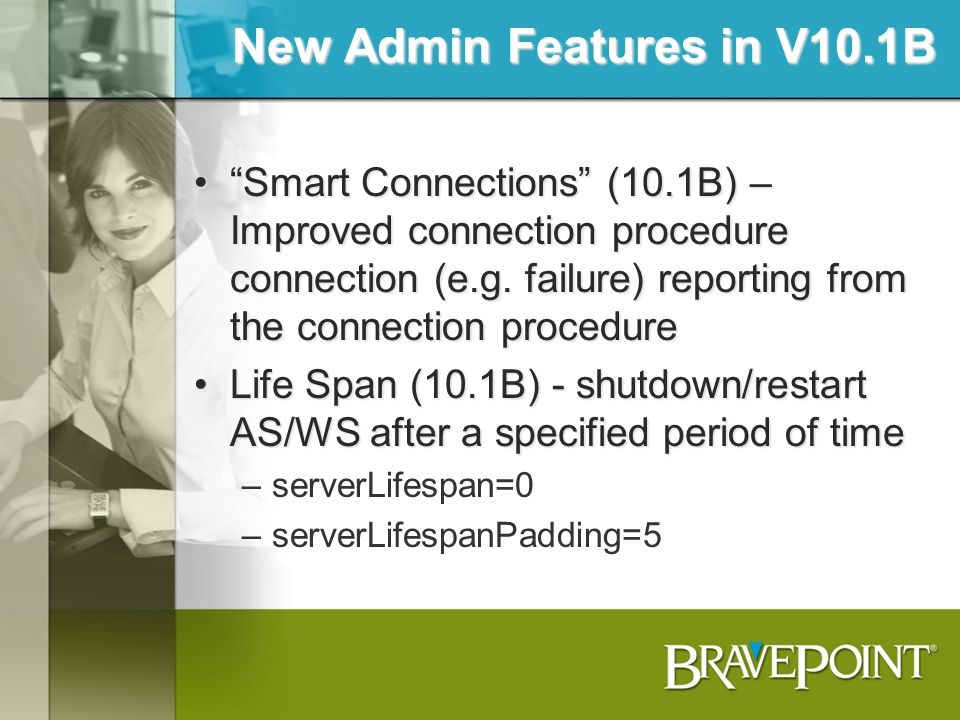 New Admin Features in V10.1B