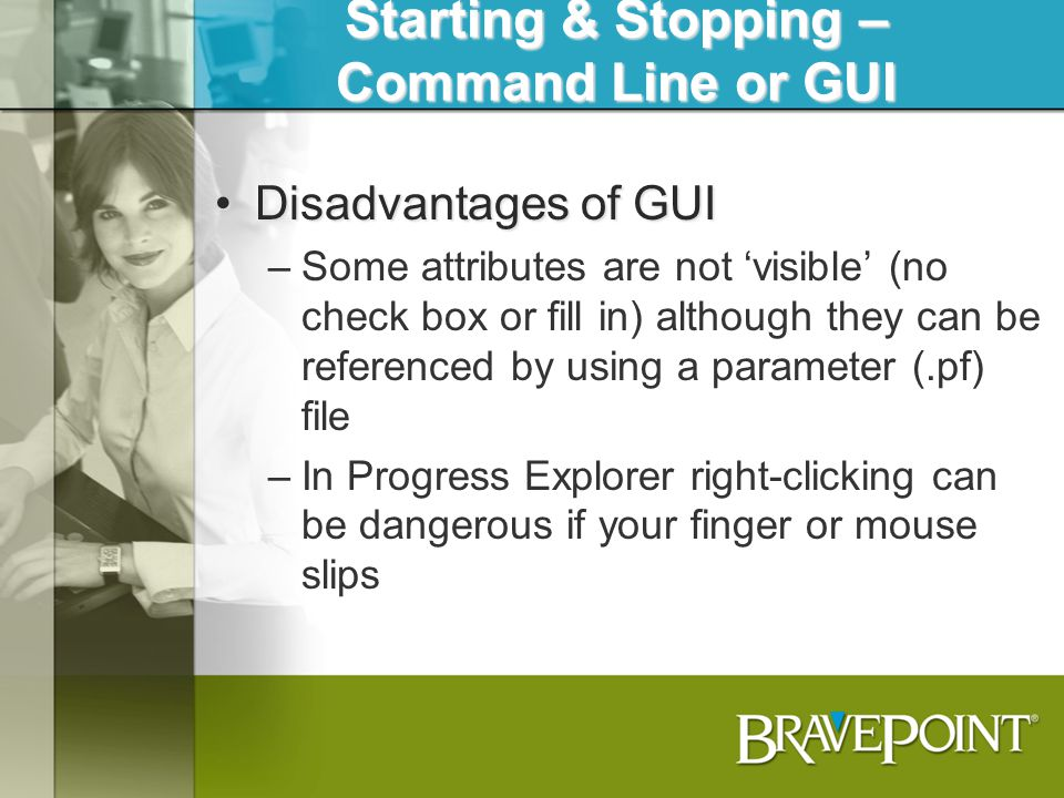 Starting & Stopping – Command Line or GUI