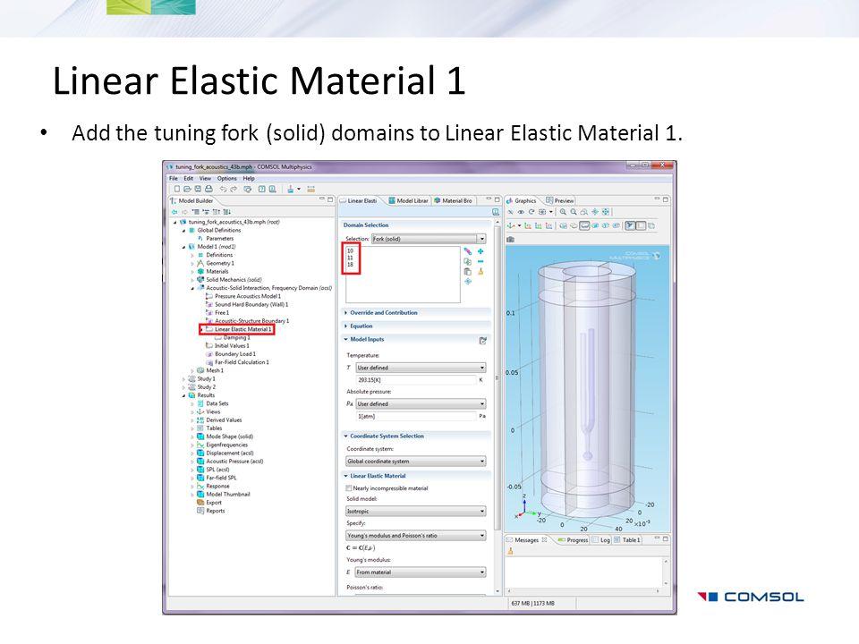 Linear Elastic Material 1