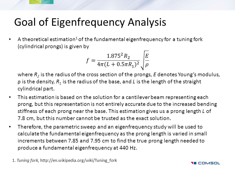 Goal of Eigenfrequency Analysis