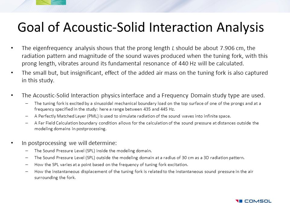 Goal of Acoustic-Solid Interaction Analysis