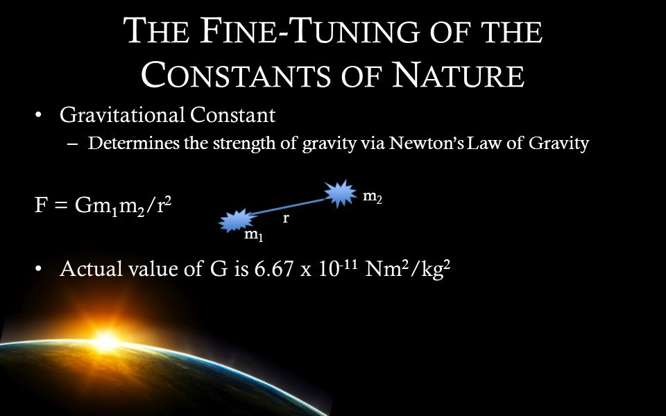 The Fine-Tuning of the Constants of Nature