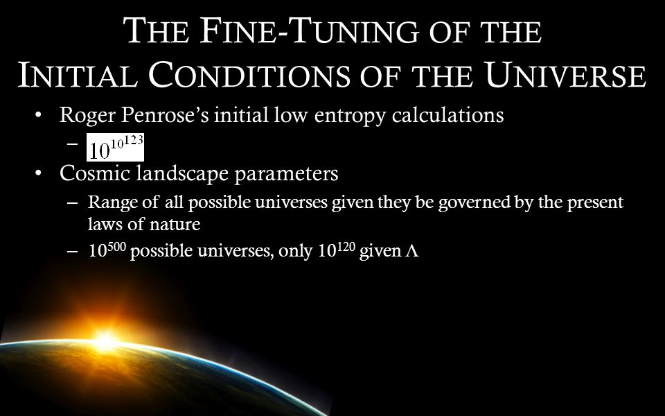 The Fine-Tuning of the Initial Conditions of the Universe