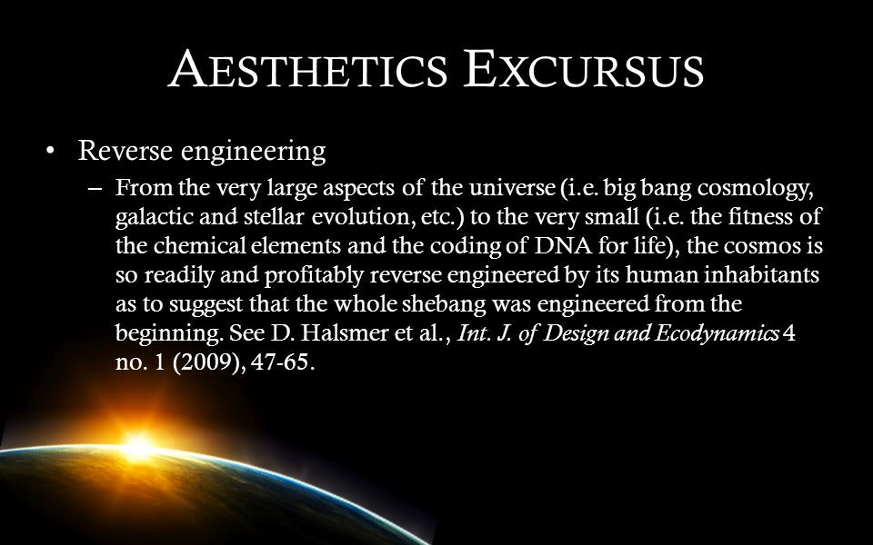 Aesthetics Excursus Reverse engineering