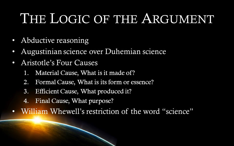 The Logic of the Argument