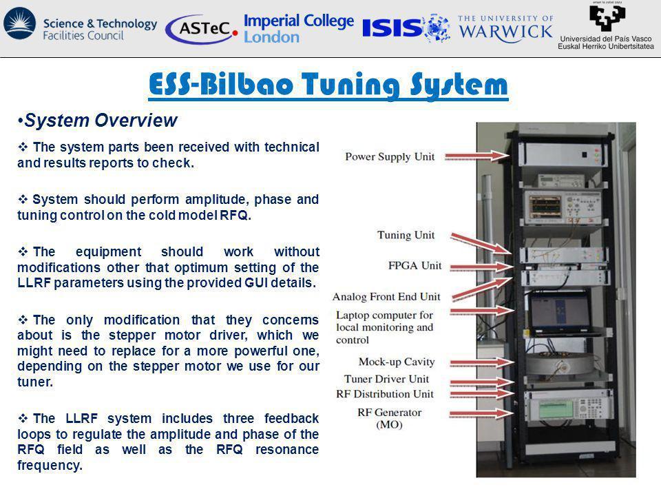 ESS-Bilbao Tuning System