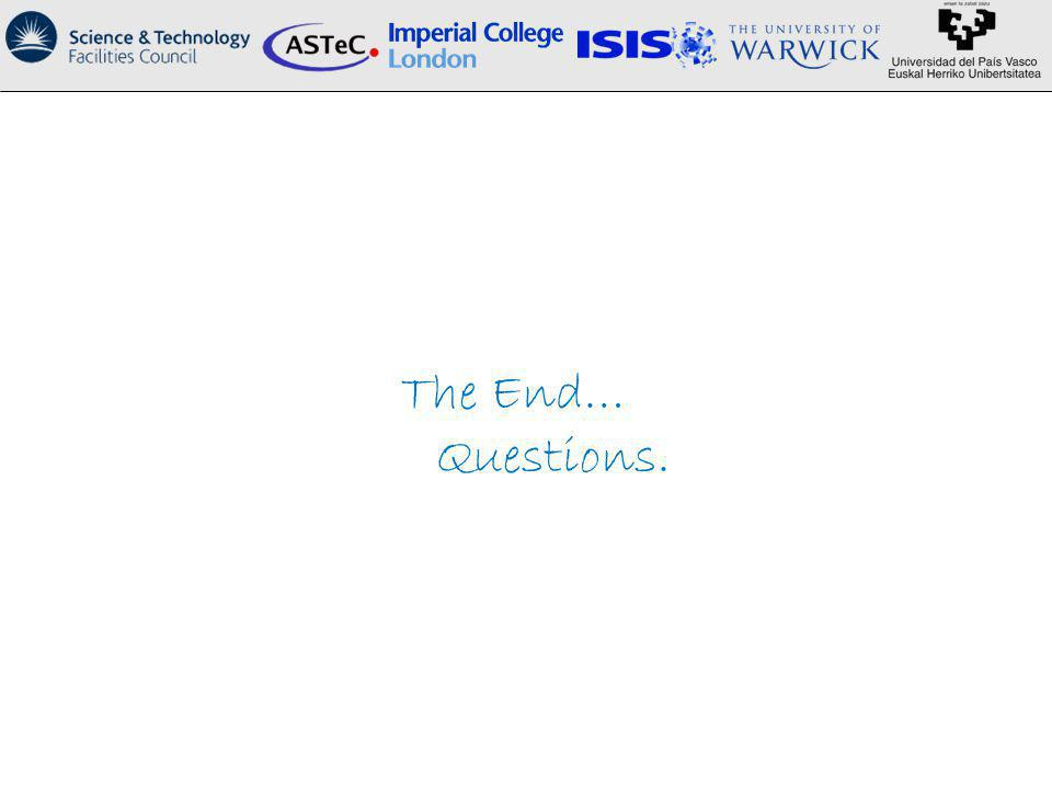 The End… Questions.