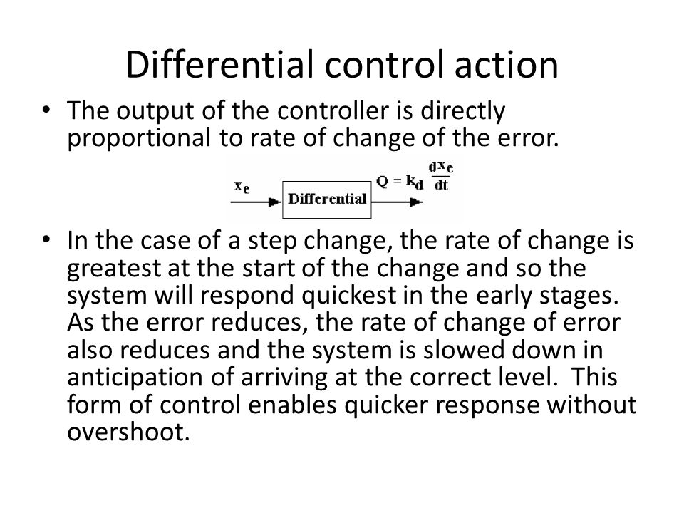Differential control action