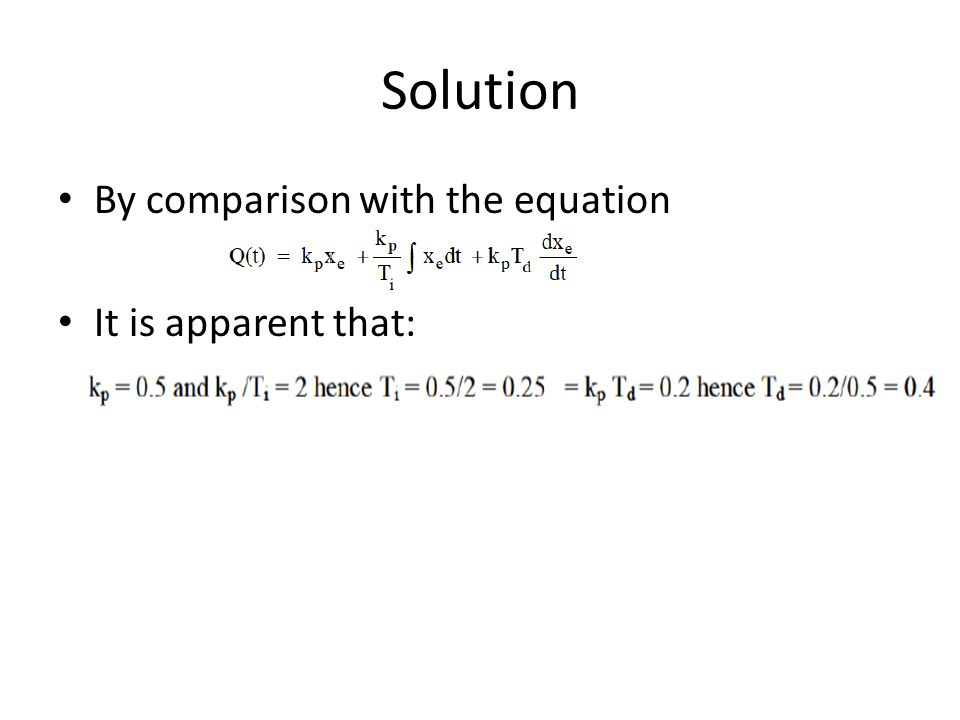 Solution By comparison with the equation It is apparent that: