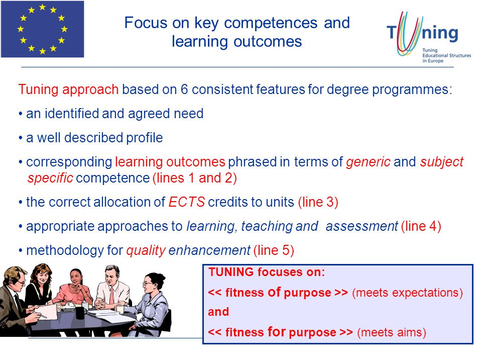 Focus on key competences and learning outcomes