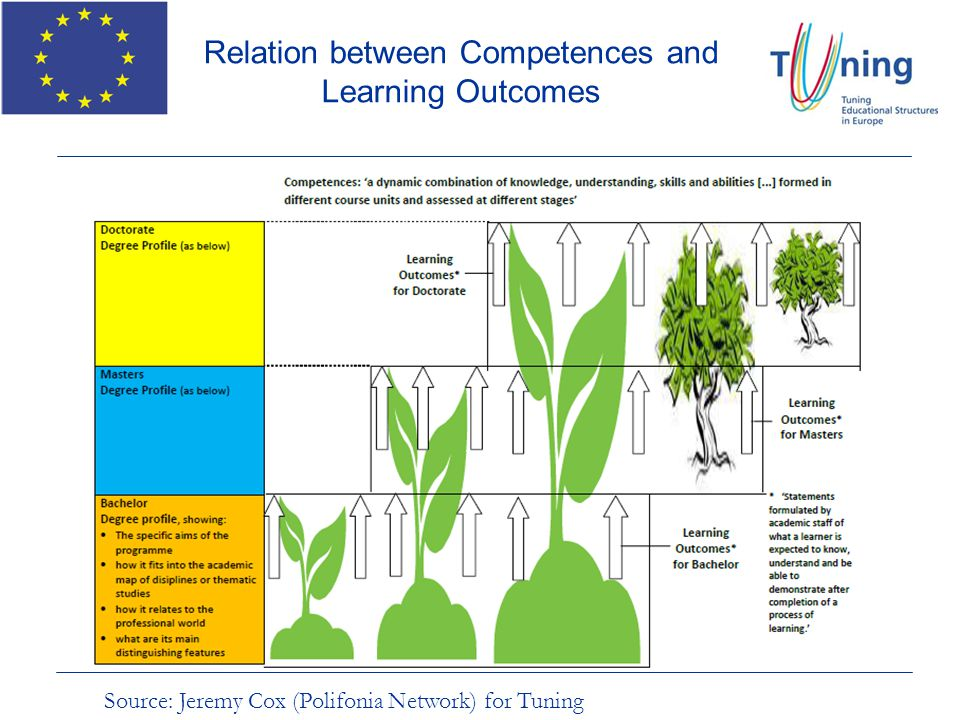 Relation between Competences and Learning Outcomes