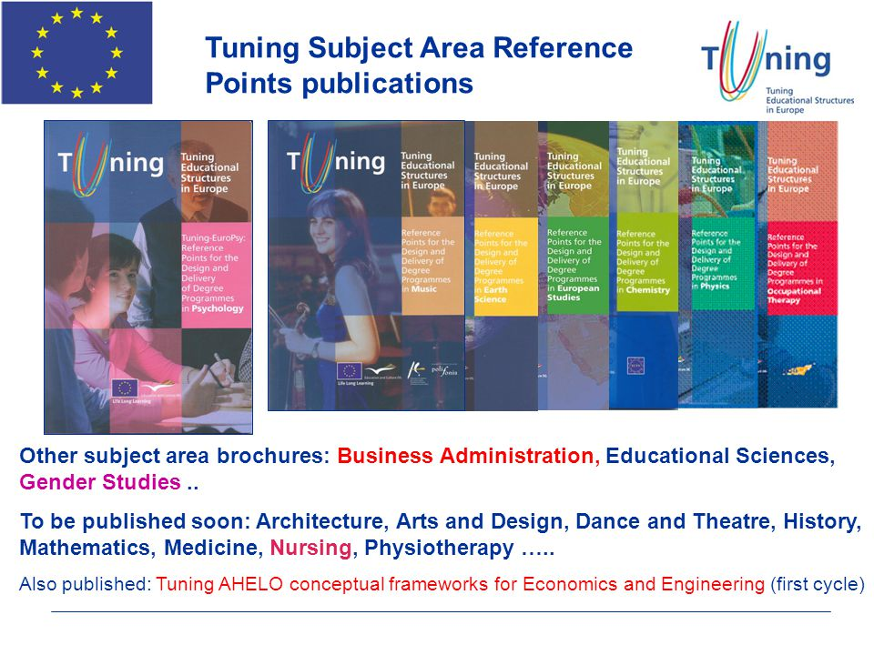 Tuning Subject Area Reference Points publications