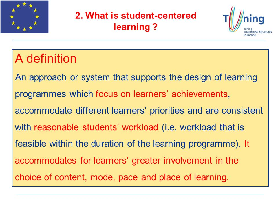 2. What is student-centered learning