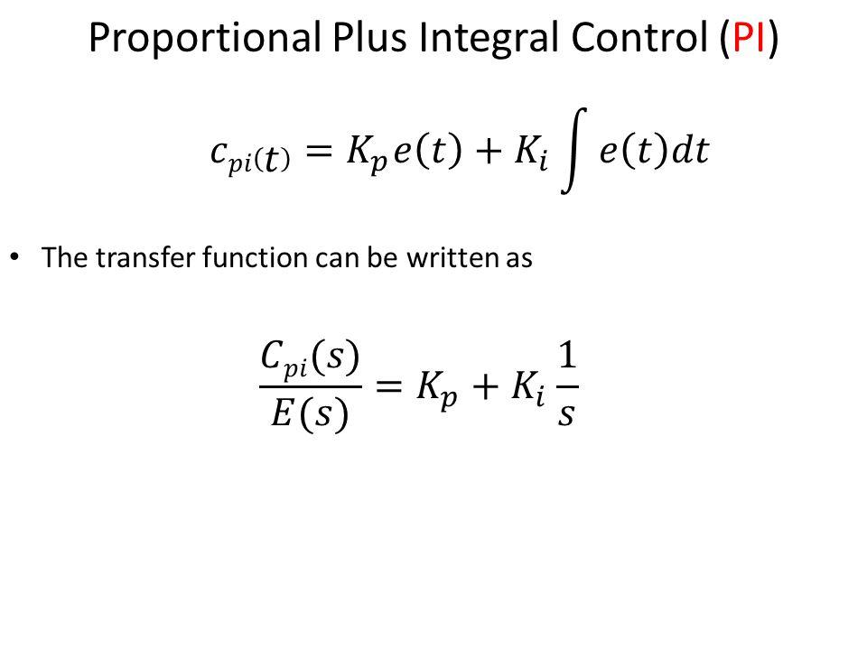 Proportional Plus Integral Control (PI)