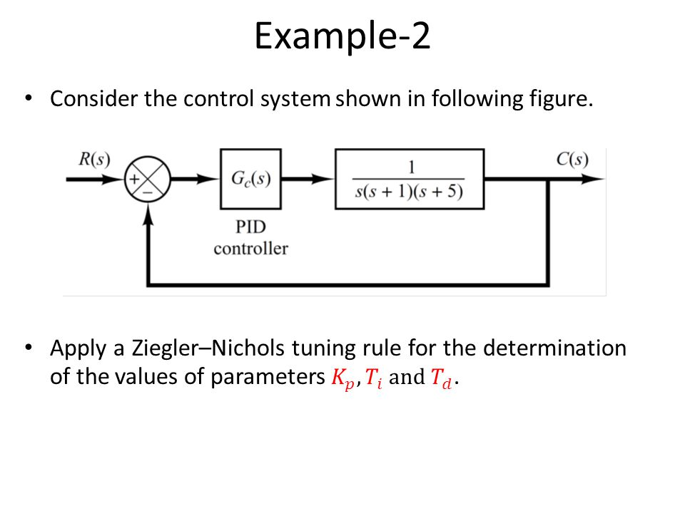 Example-2 Consider the control system shown in following figure.