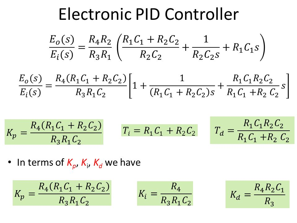 Electronic PID Controller