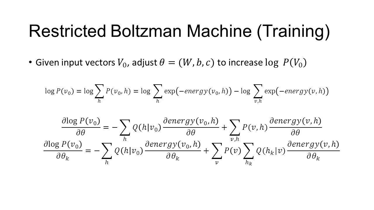 Restricted Boltzman Machine (Training)