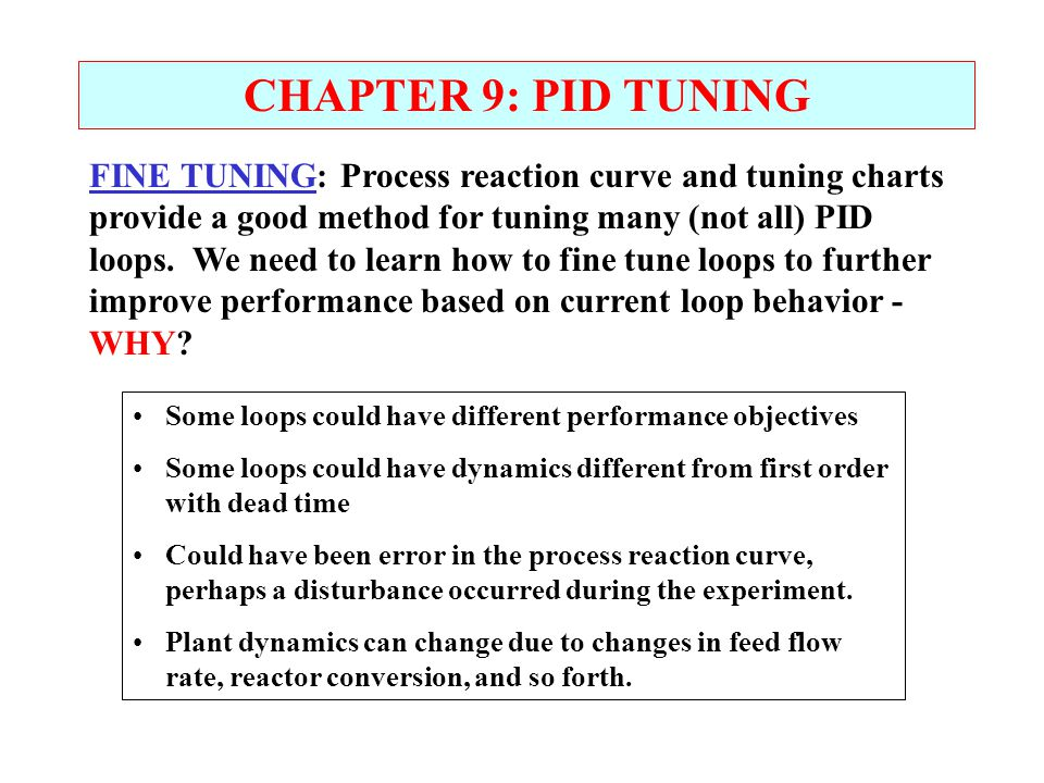 CHAPTER 9: PID TUNING