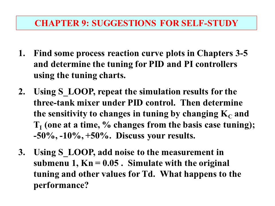CHAPTER 9: SUGGESTIONS FOR SELF-STUDY