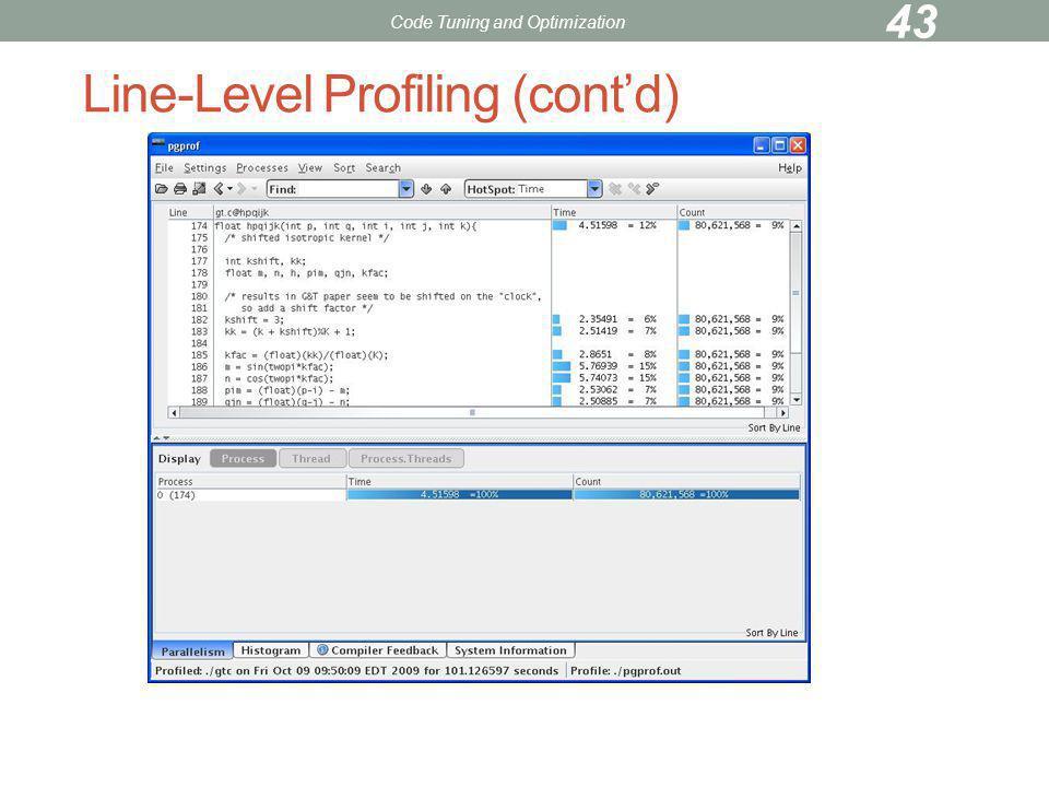 Line-Level Profiling (cont'd)
