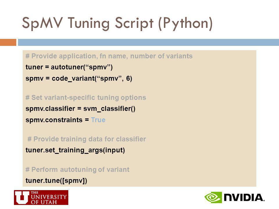 SpMV Tuning Script (Python)