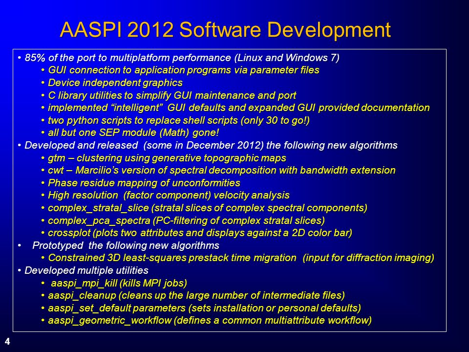 AASPI 2012 Software Development