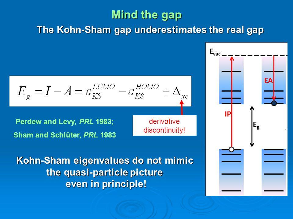 The Kohn-Sham gap underestimates the real gap