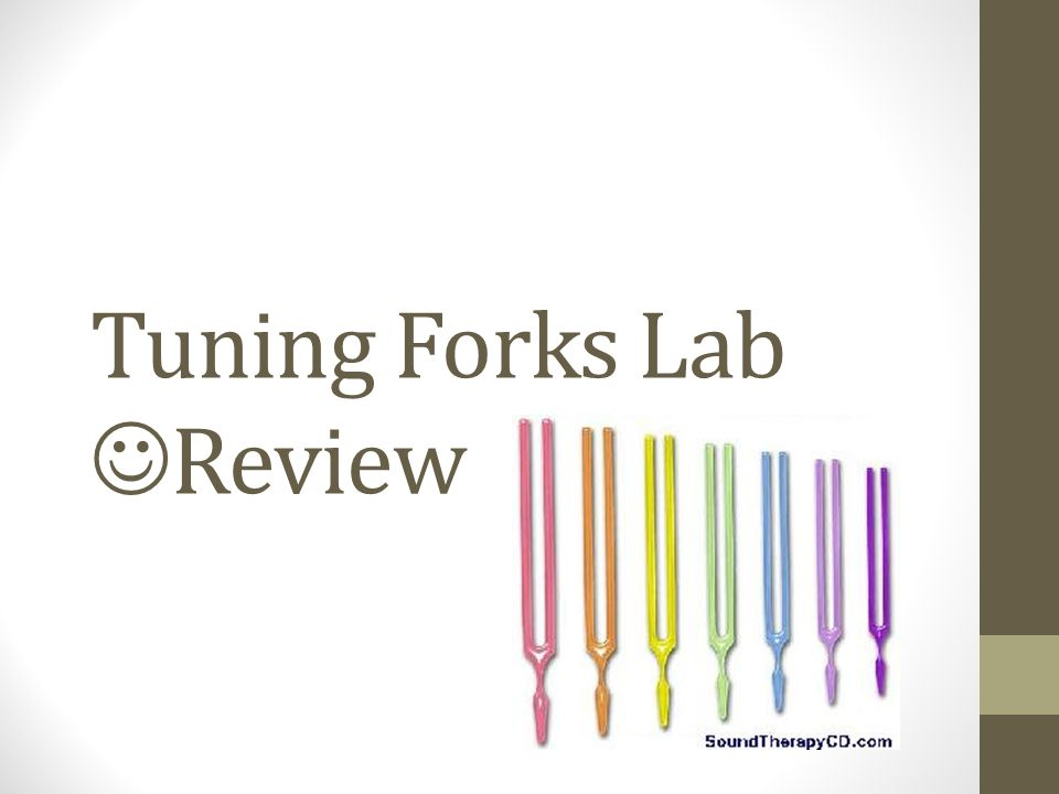 Tuning Forks Lab Review