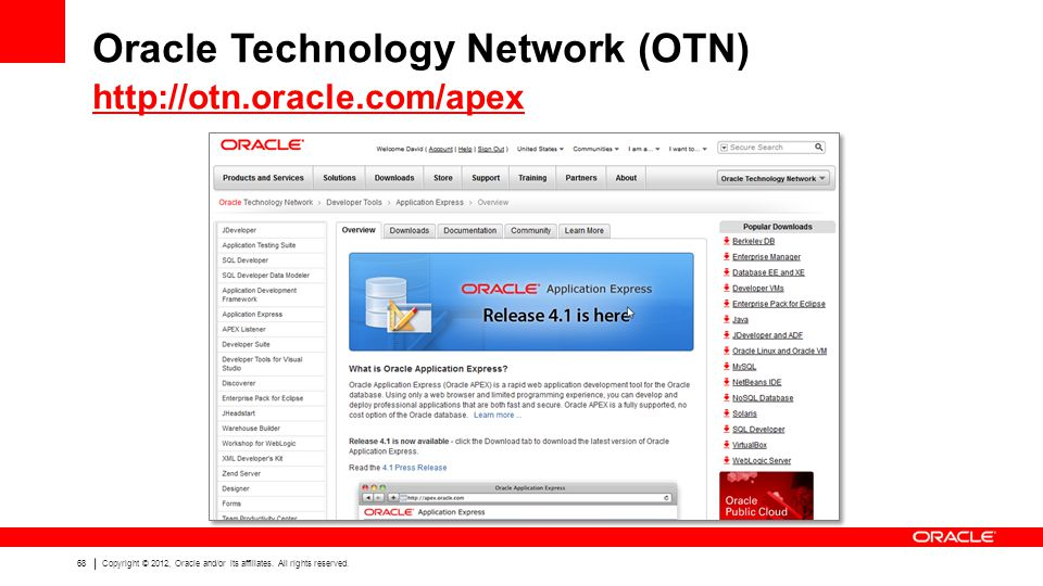 Oracle Technology Network (OTN)