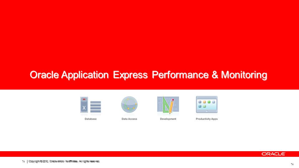 Oracle Application Express Performance & Monitoring