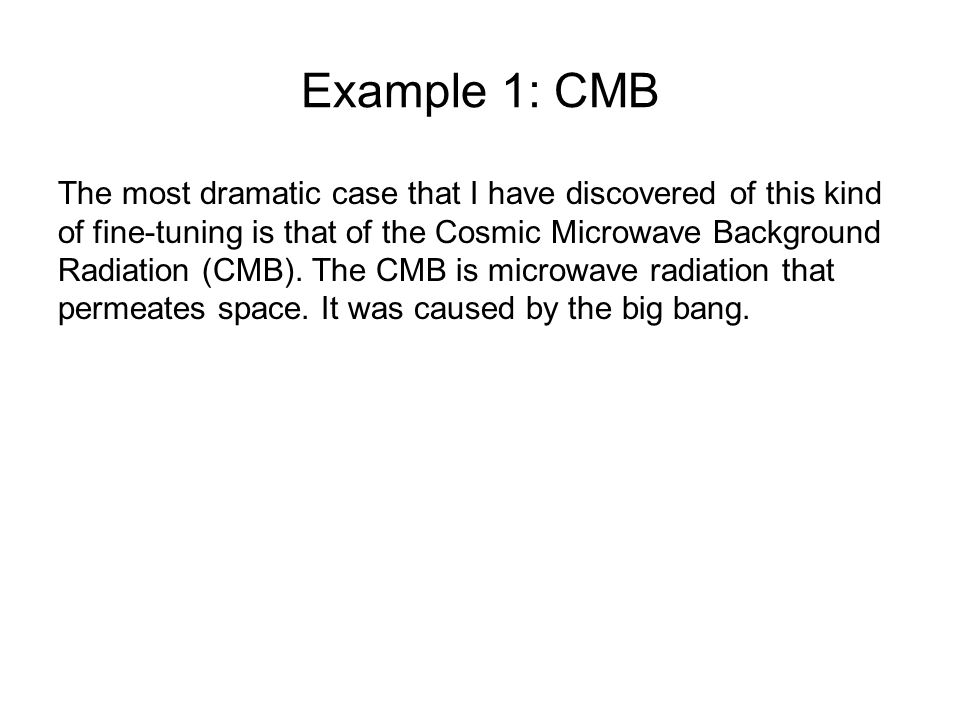 Example 1: CMB