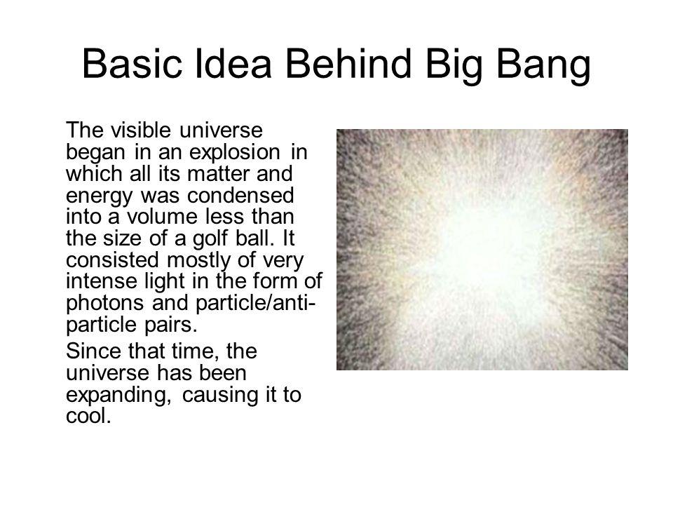 Basic Idea Behind Big Bang