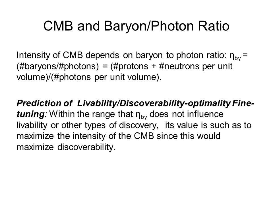 CMB and Baryon/Photon Ratio