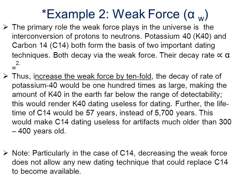 *Example 2: Weak Force (α w)