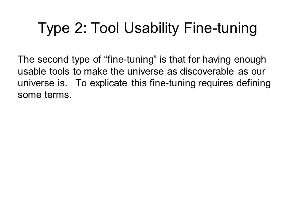 Type 2: Tool Usability Fine-tuning