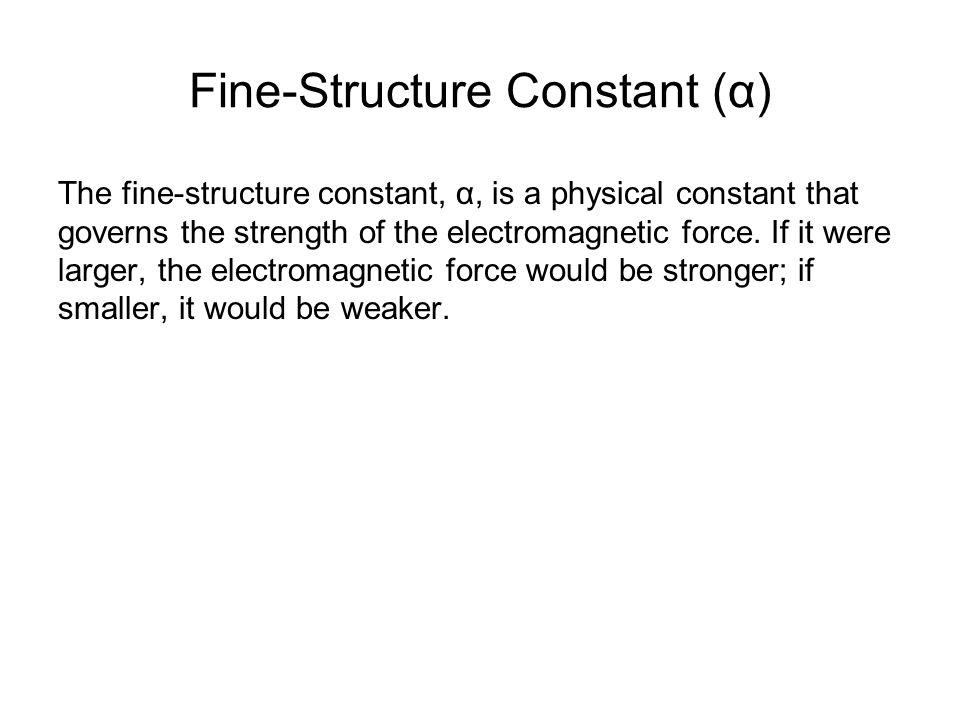 Fine-Structure Constant (α)