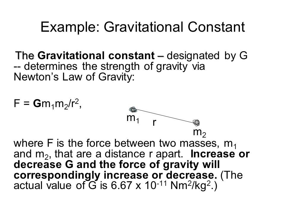 Example: Gravitational Constant