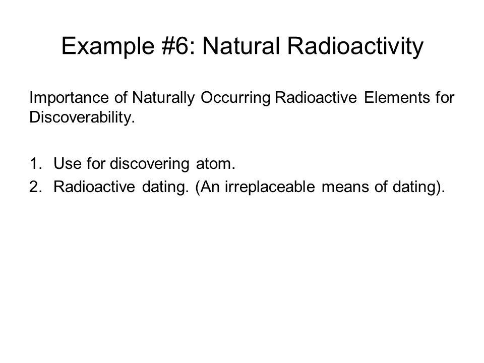 Example #6: Natural Radioactivity