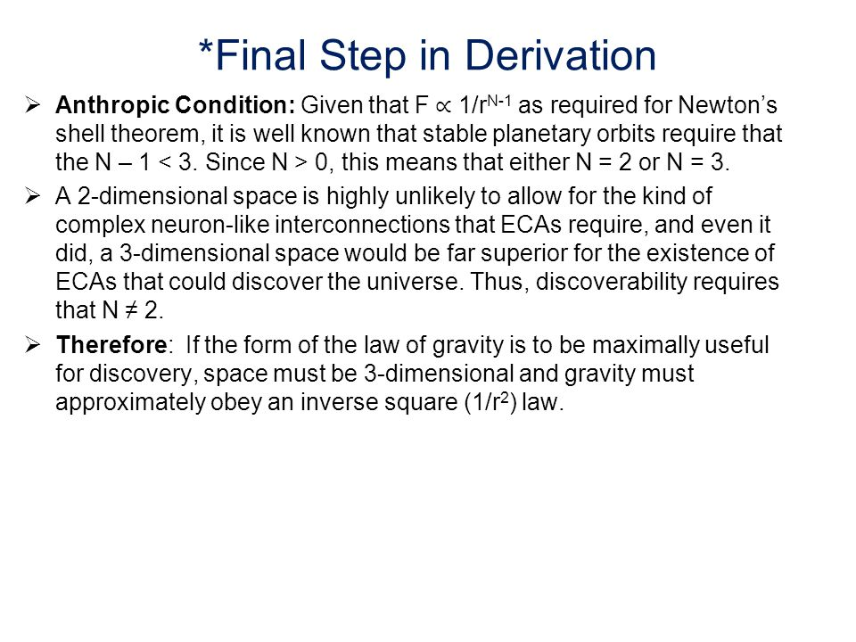 *Final Step in Derivation