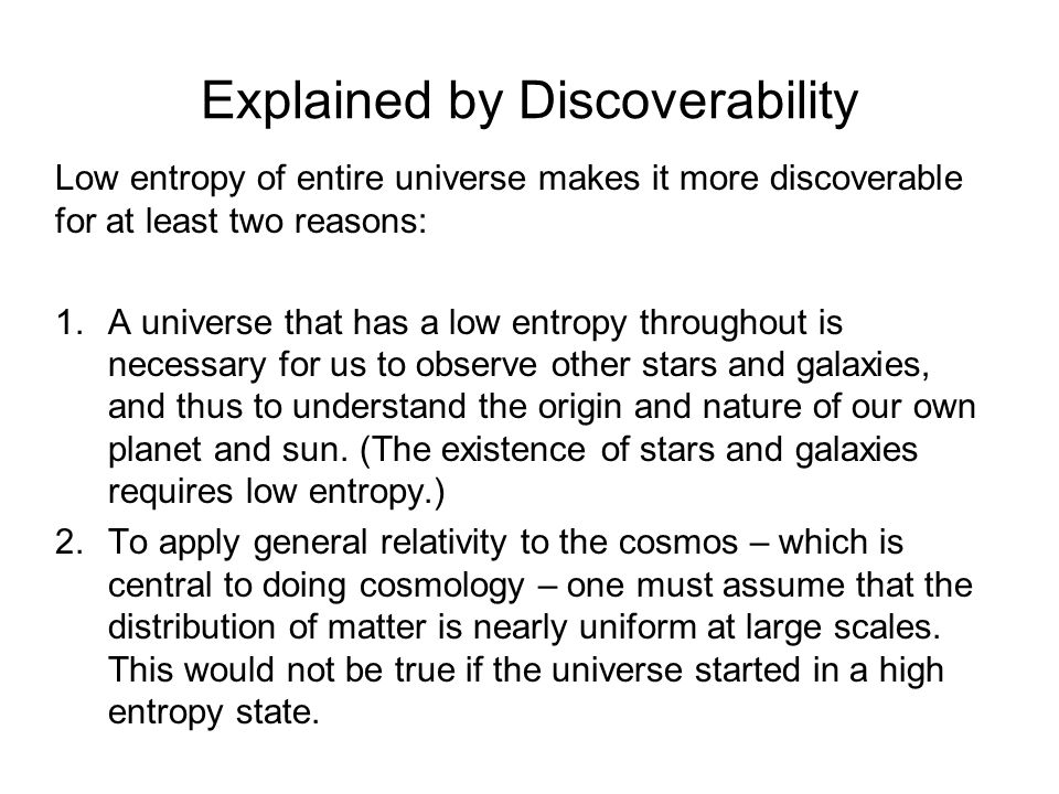 Explained by Discoverability