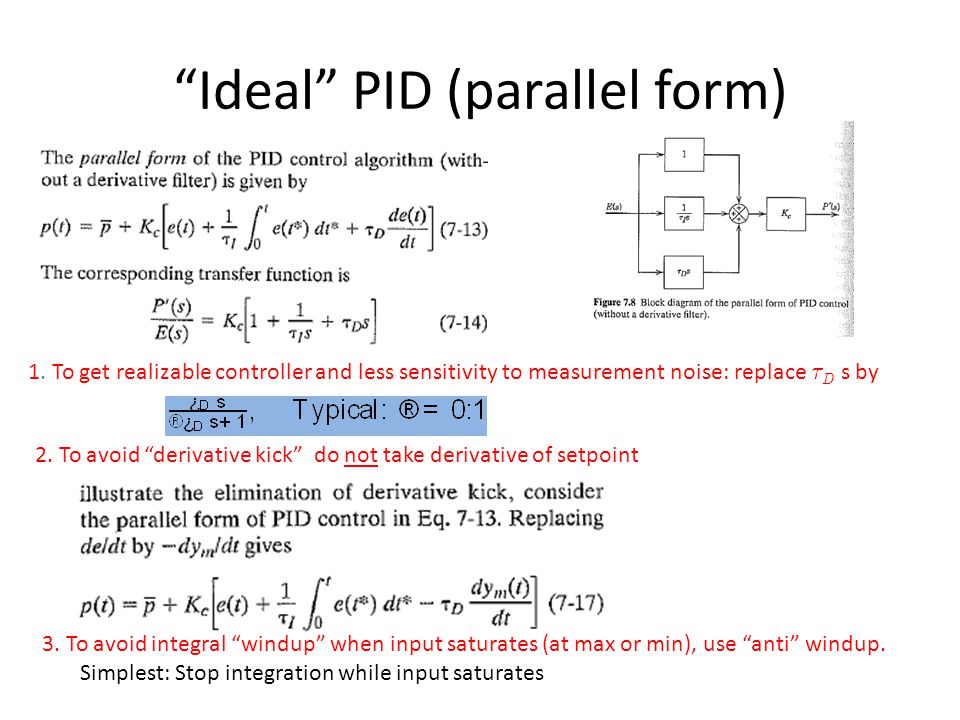 Ideal PID (parallel form)